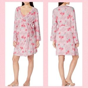 LAMAZE Maternity Nursing Nightgown & Robe Set NWT
